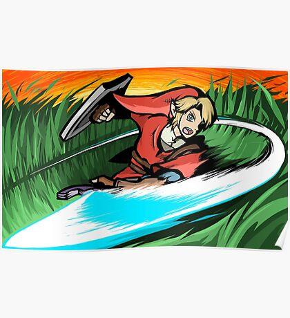 Link   Sword Slash Poster