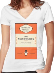 Necronomicon? Women's Fitted V-Neck T-Shirt