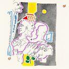 Night Drawings - Les Dessins de Nuit n°34  - Janus ne savait plus où donner de la tête by Pascale Baud