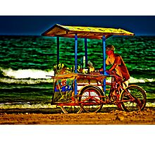 Beach Vendor Photographic Print