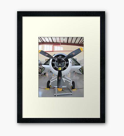 F4F - Wildcat folded up Framed Print
