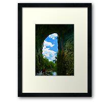 Looking Into God's Window Framed Print