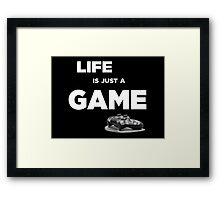 Life is just a game, ps4 camo pad popart Framed Print