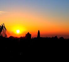 Sunrise in Jerusalem by Roland Pozo