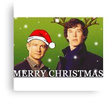 Sherlock Holmes merry Christmas merchandise  Canvas Print