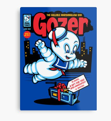 Gozer the Gullible God Metal Print