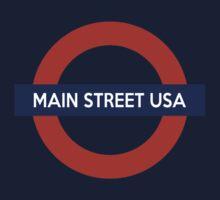 Main Street USA Line Baby Tee