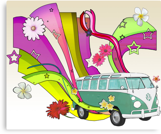 60's Van with Foulli and Gerbera in White by Barbora  Urbankova