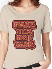 Make tea not war flower power style Women's Relaxed Fit T-Shirt