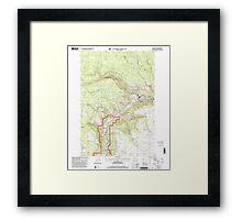 USGS Topo Map Washington State WA Klickitat 241791 2000 24000 Framed Print