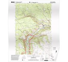 USGS Topo Map Washington State WA Klickitat 241791 2000 24000 Poster