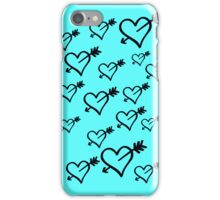 Black hearts with arrows iPhone Case/Skin