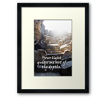 """Your light guides me out of the depths."" by Carter L. Shepard Framed Print"