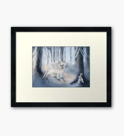 The Fox and The Rabbit Framed Print