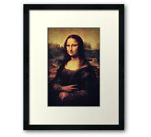 Mona Lisa! SWAG! PEACE! YOLO! Parody Framed Print