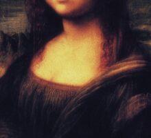 Mona Lisa! SWAG! PEACE! YOLO! Parody Sticker