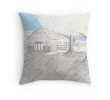 Colorado Barn Throw Pillow