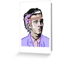 Purple Tux Matty Greeting Card