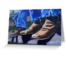 Cowboy Boots at Rest Greeting Card