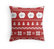 Sherlock Ugly Christmas Sweater Throw Pillow