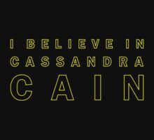 I Believe in Cassandra Cain by channingellison