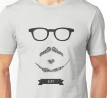 Beards with Glasses – Johnny Depp Unisex T-Shirt