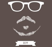 Beards with Glasses – Johnny Depp in White by Justin Ladia