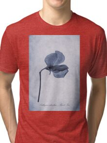 Sweet Pea Cyanotype Tri-blend T-Shirt