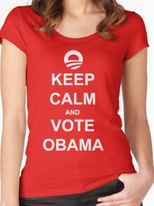 Keep Calm and Vote Obama 2012 Women's Shirt Women's Fitted Scoop T-Shirt
