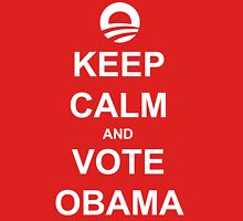 Keep Calm and Vote Obama 2012 Women's Shirt Womens Fitted T-Shirt
