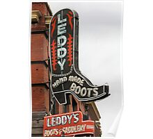 Leddy , Hand Made Boots Poster