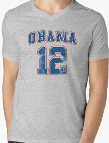 Retro Obama 2012 Women's Shirt Mens V-Neck T-Shirt