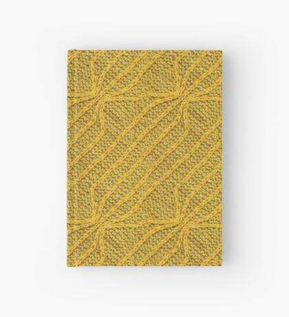 Yellow Lines Knit Hardcover Journal