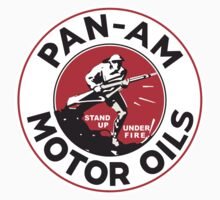 Pan Am Motor Oils T-shirt Reproduction by JohnOdz