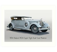 1934 Packard 1104 Super Eight Dual Cowl Phaeton w Title Art Print