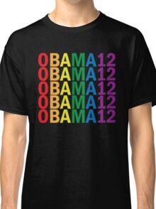 Obama Pride 2012 Retro Rainbow Women's Shirt Classic T-Shirt