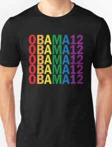 Obama Pride 2012 Retro Rainbow Women's Shirt Unisex T-Shirt