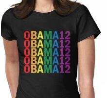 Obama Pride 2012 Retro Rainbow Women's Shirt Womens Fitted T-Shirt
