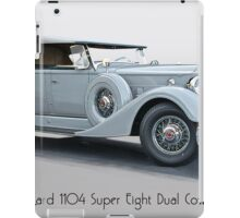 1934 Packard 1104 Super Eight Dual Cowl Phaeton w Title iPad Case/Skin