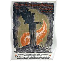 Württ Kriegsausstellung 1916 Stuttgart Mai September 938 Poster