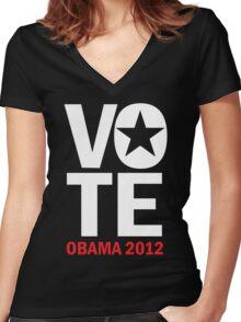 Vote Obama Women's Shirt Women's Fitted V-Neck T-Shirt