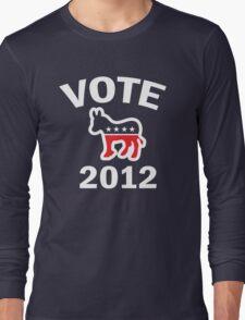 Vote Democrat 2012 T  Women's Shirt Long Sleeve T-Shirt