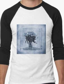 Watercolour Tulips in Blue Men's Baseball ¾ T-Shirt