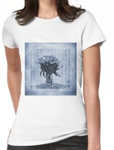 Watercolour Tulips in Blue Womens Fitted T-Shirt