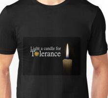 light a candle for tolerance Unisex T-Shirt
