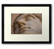 Stone Faced Framed Print