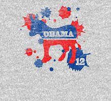 Obama 2012 Paint Women's Shirt Womens Fitted T-Shirt