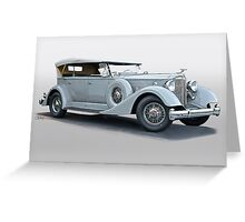 1934 Packard 1104 Super Eight Dual Cowl Phaeton Greeting Card