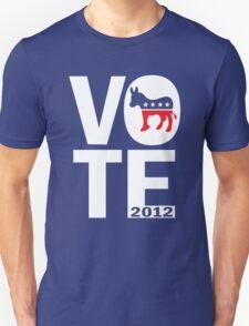 Vote Democrat 2012 Women's Shirt Unisex T-Shirt
