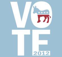 Vote Democrat 2012 Shirt Kids Clothes